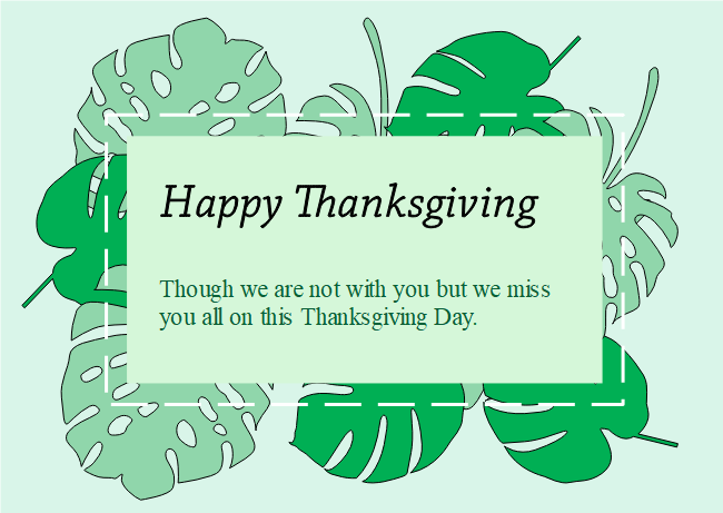 The Green Leaves Thanks Giving Card Template Is In A Simple Fresh And Modern Style The Green Background And Leaves Gi Cards Thanksgiving Cards Card Templates