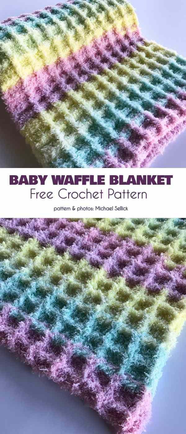Baby Waffle Blanket Free Crochet Pattern | Crochet blanket ...