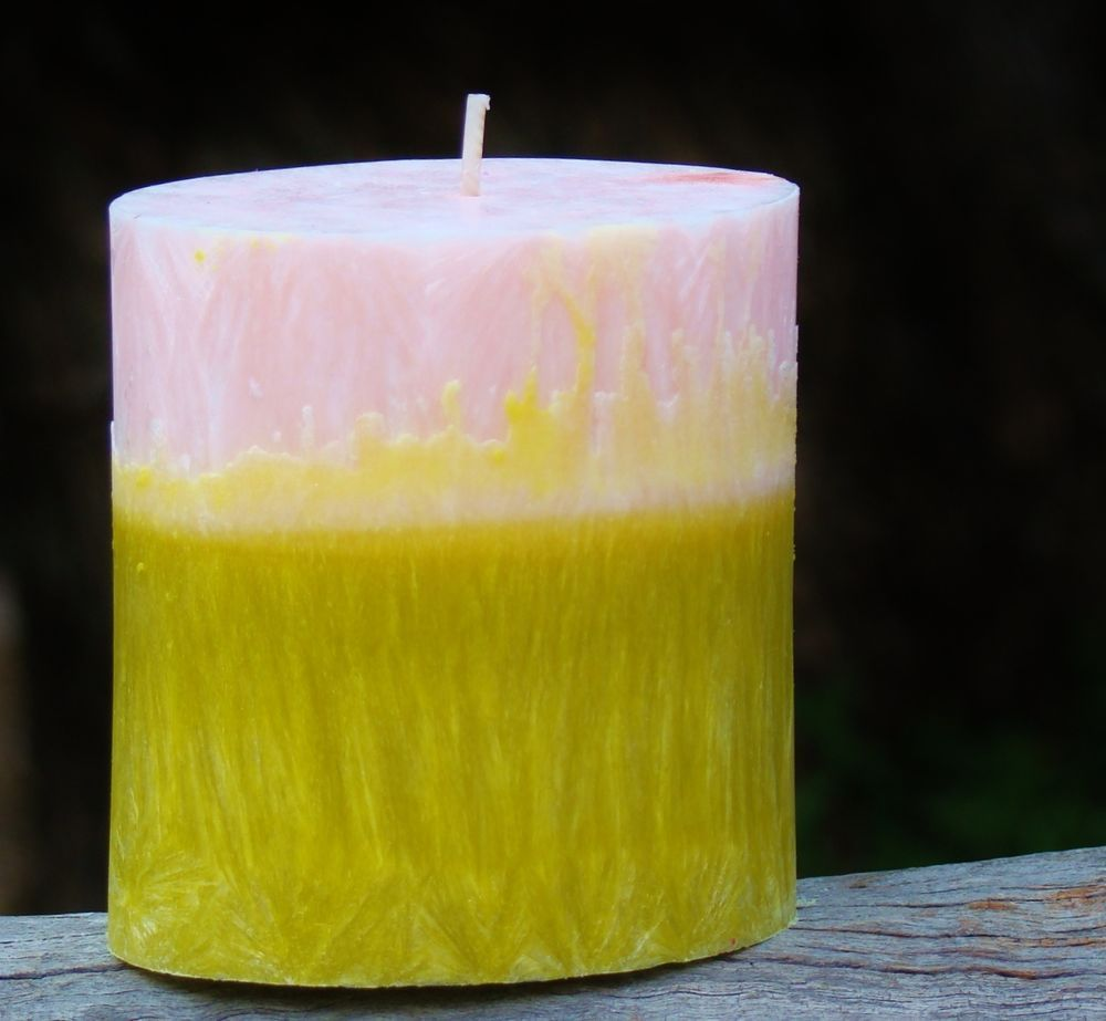 70hr ROSES /& PATCHOULI Natural Triple Scented PREMIUM OVAL PILLAR CANDLE Gifts