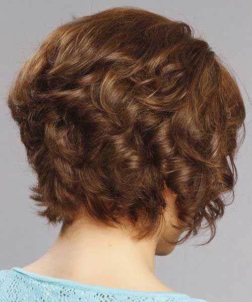 15 Layered Bob Back View Bob Haircut And Hairstyle Ideas Short Curly Haircuts Hair Styles Curly Bob Hairstyles