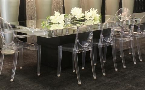 Mirror Glass Table 4 X 8 Town Country Event Rentals With