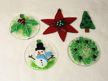 Lightgarden Glass Art Studio Classes Fused Glass Ornaments Glass Christmas Decorations Glass Christmas Ornaments