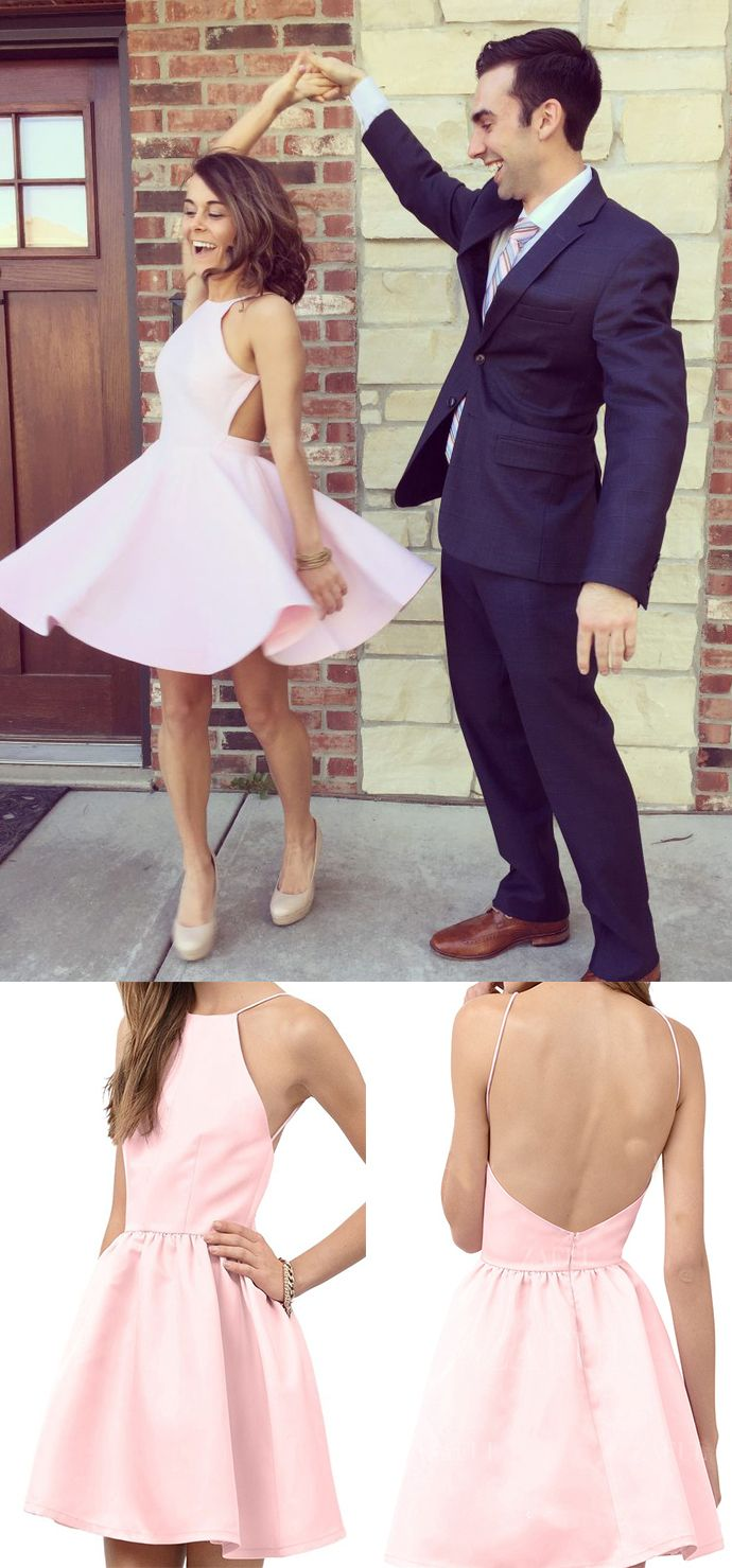 0f0eb976424 Pink Homecoming Dress
