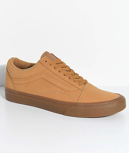8775597c5c Vans Old Skool Vansbuck Gum Mono Skate Shoes