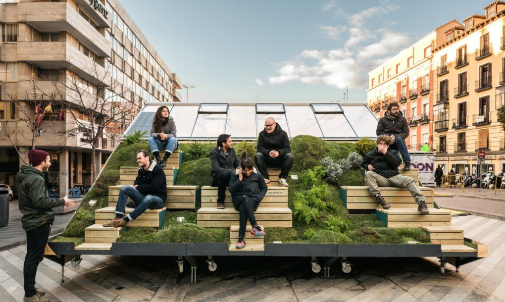 Experimental Furniture Eyeing Urban Regeneration Pops Up In Madrid Urban Furniture Design Urban Furniture Street Furniture