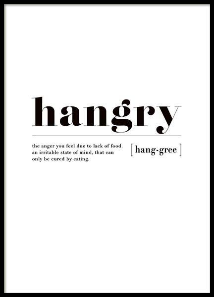 Hangry Poster in de groep Posters / Afmetingen / bij Desenio AB ...
