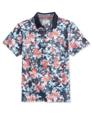 0460bf5fe88b Retrofit Men s Floral Polo - Blue XL