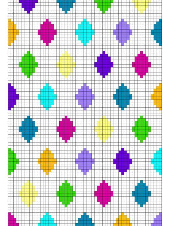 C2C harlequin blanket, free crochet pattern | Crochet tunecino ...