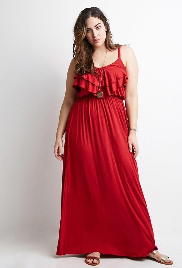 b2a83996716 Plus Size FOREVER 21+ Flounce Cami Maxi Dress | Plus Size Fashion ...