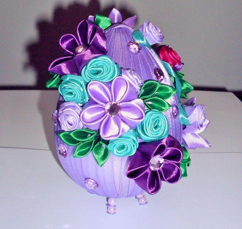 Jajko Fioletowe Cz 2 Nasze Prace Inspirello Pl Handmade Decorations Kanzashi Tutorial Egg Crafts
