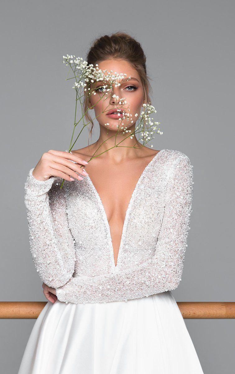 Kylie   Wedding dresses, Bridal dresses, Wedding dress long sleeve