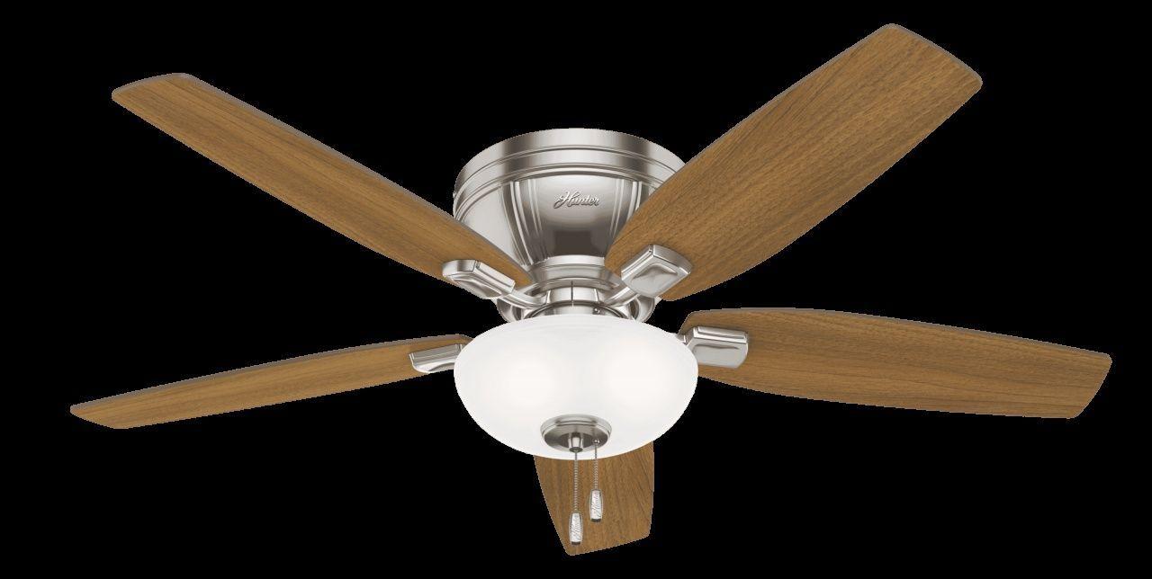 Ceiling Fans That Plug Into Light Socket In 2020 Hunter Ceiling Fans Ceiling Fan Brushed Nickel Ceiling Fan
