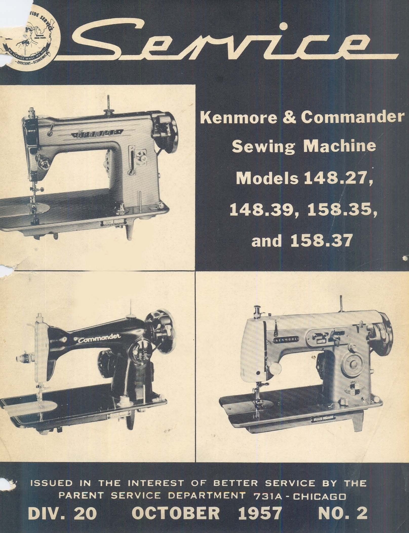 kenmore sewing machine service manuals [ 1615 x 2104 Pixel ]