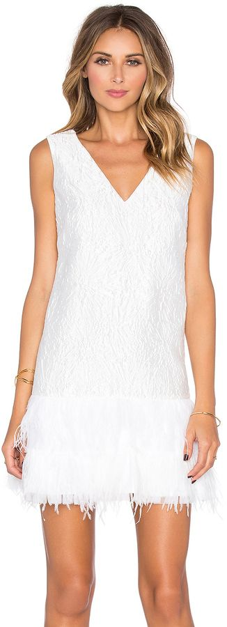 BCBGMAXAZRIA Plunge Neck Mini Dress, white, weiss, Kleider, Cocktail ...