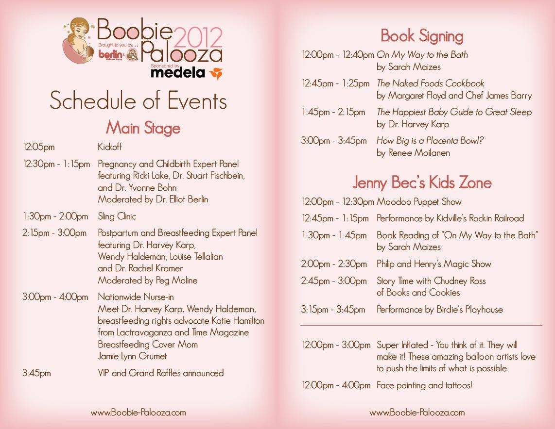 baby shower agenda | BP Program Schedule | Showers ...