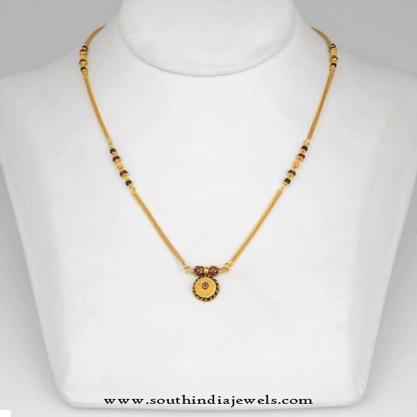 f7eda1384faa5 Simple Gold Mangalsutra Design | Chains Collections | Gold ...