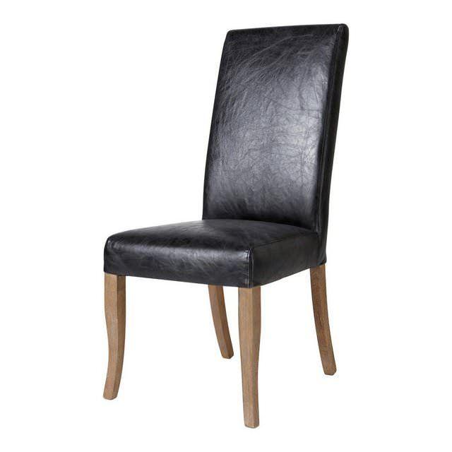 Sedia da tavolo in pelle nera Vintage | Living | Pinterest | Tavolo ...