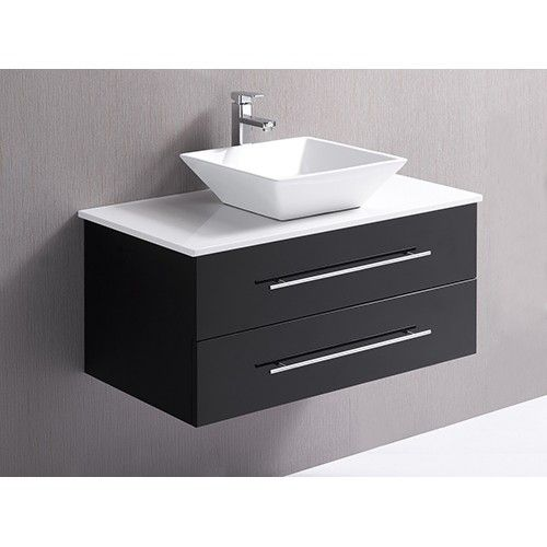 Bathroom Vanity Unit With Basin And Stone Benchtop 90cm Wall