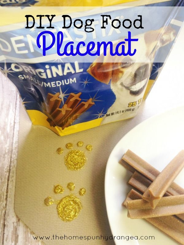 Craft this DIY Dog Food Placemat with the help of Walmart