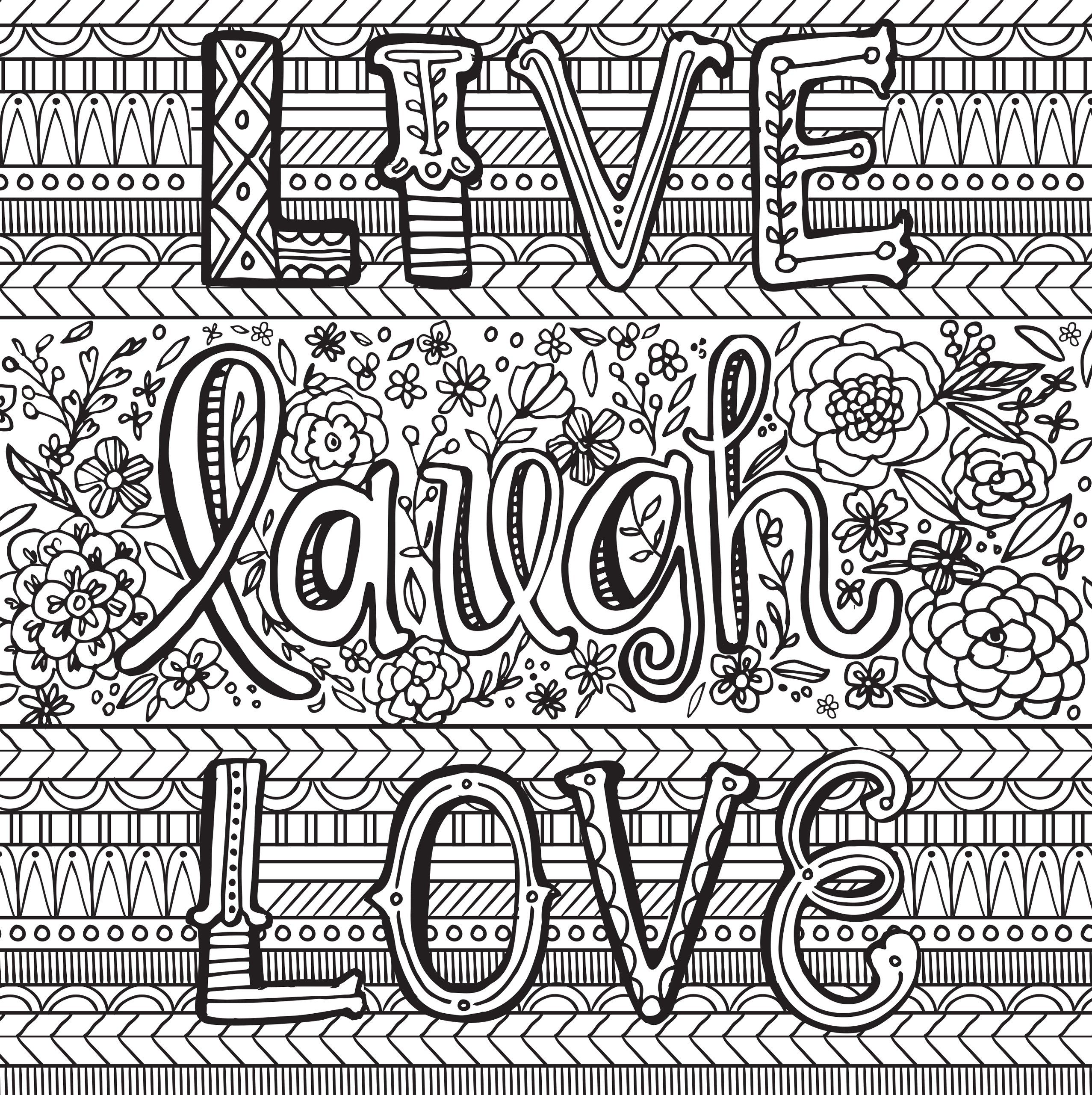 Joyful Inspiration Adult Coloring Book (31 stress-relieving ...