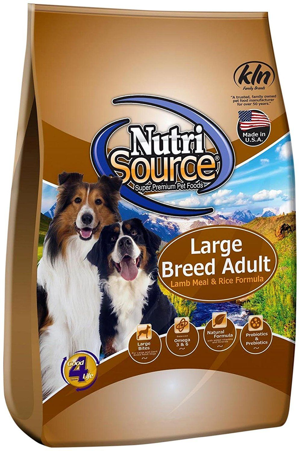 Nutri Source Large Breed Adult Lamb and Rice 33 lbs
