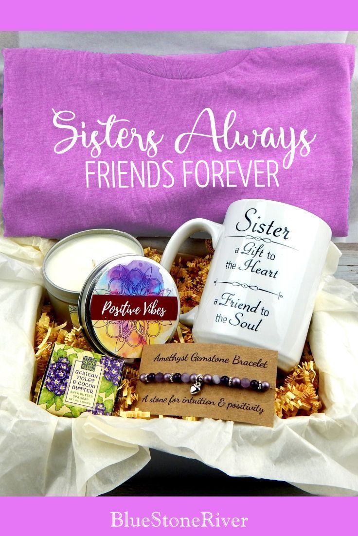 Gift Basket For Sister – Inspirational Gift Baskets – Sisters Always Friend Fore…