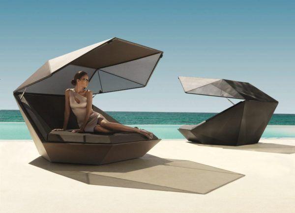 einzigartiges tagesbettdaybed der serie faz by vondom design sonnenliege fr 2 personen mit - Modernes Tagesbettgestell