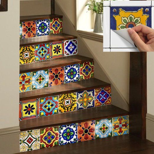 SnazzyDecal Wall Tile Decal Stickers Mexican
