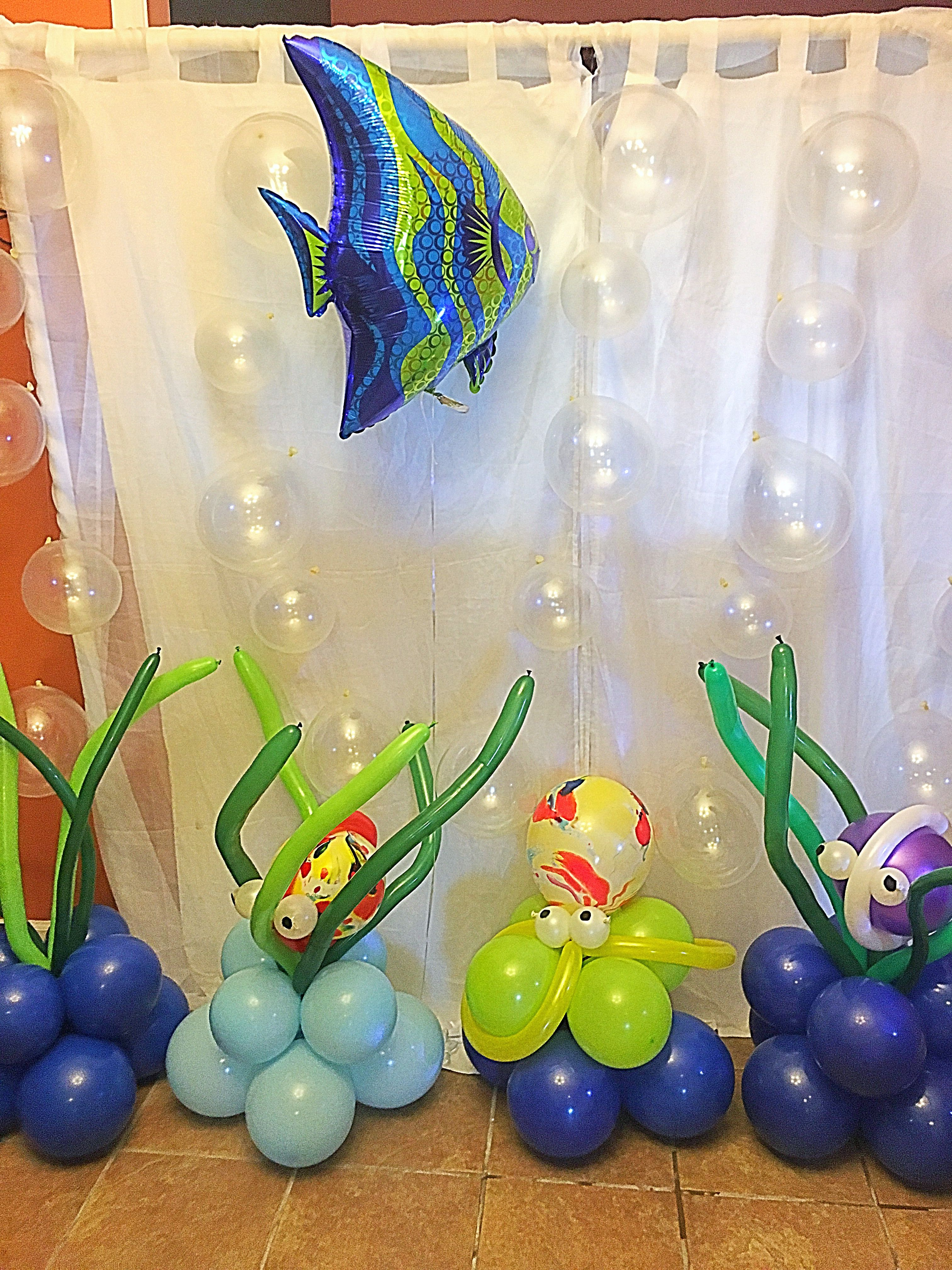 Under The Sea Balloons With Images Shark Themed Birthday Party
