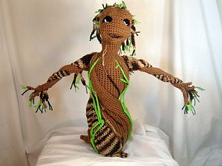 Amigurumi Patterns Groot : Ravelry baby groot sapling plush amigurumi stuffed toy pattern by