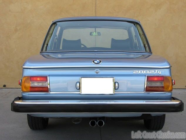 BMW Series Tii Coupe Rear Tail Lights And Tail Pipes BMW - Bmw 2002 series