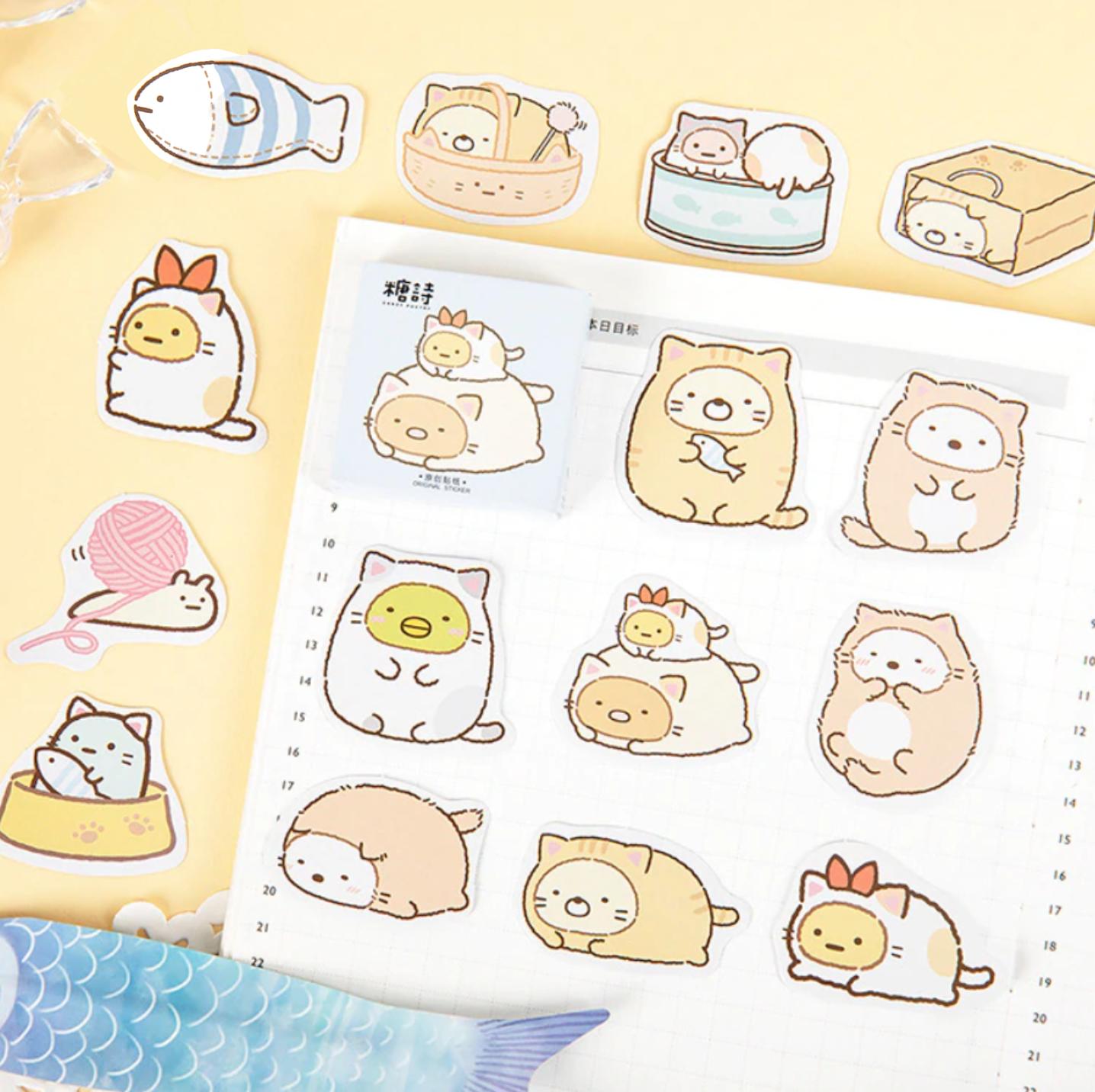 Sumikko Gurashi Paper Stickers Diy Planner Stickers Planner Stickers Etsy Cat Stickers