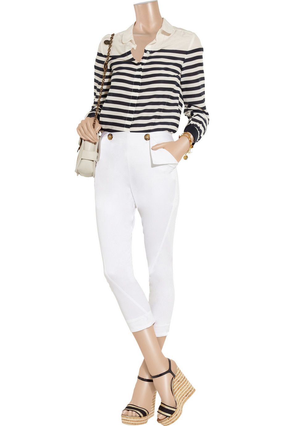 Sailor cropped stretch-cotton skinny pants by Vivienne Westwood Anglomania