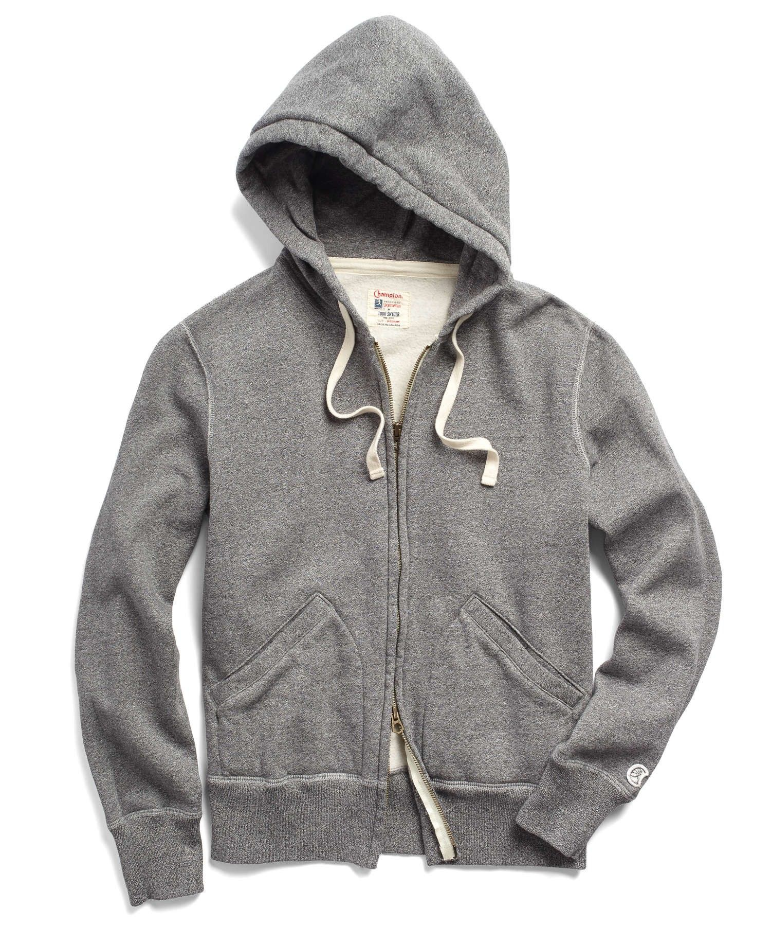 aba02ee5d31c TODD SNYDER Classic Fullzip Hoodie in Salt and Pepper.  toddsnyder  cloth