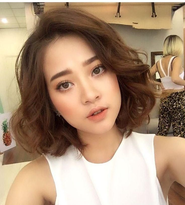 The 25 Best Korean Perm Ideas On Pinterest Medium Asian Hair For Short Curly Shag Hairstyles For Korean Girls Short Permed Hair Korean Short Hair Asian Hair