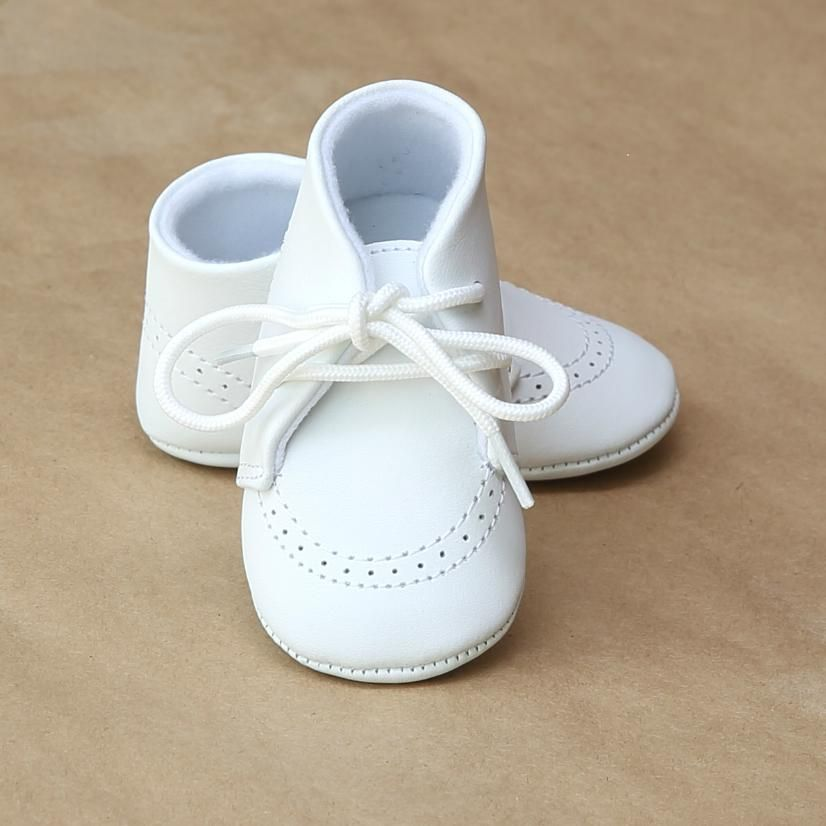 L'Amour Infant Boys White Leather Boot