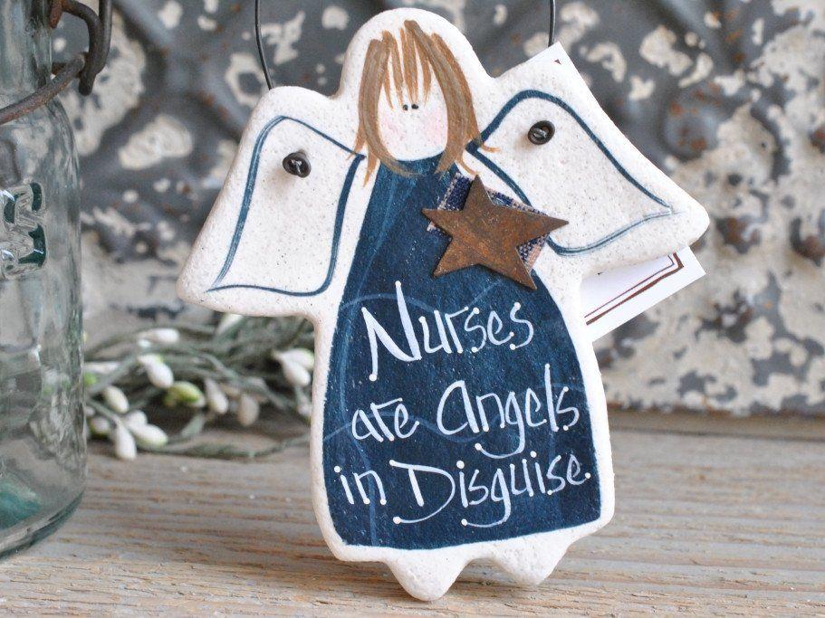 Gift for nurse salt dough ornament grandmother birthday