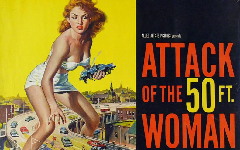 Attack of the 50 Ft. Woman (1958) | 13 Afiches Películas Terror