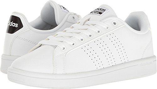 best sneakers c7dbc 843dd adidas Womens Shoes Cloudfoam Advantage Clean Sneakers WhiteBlack, (8 M  US)