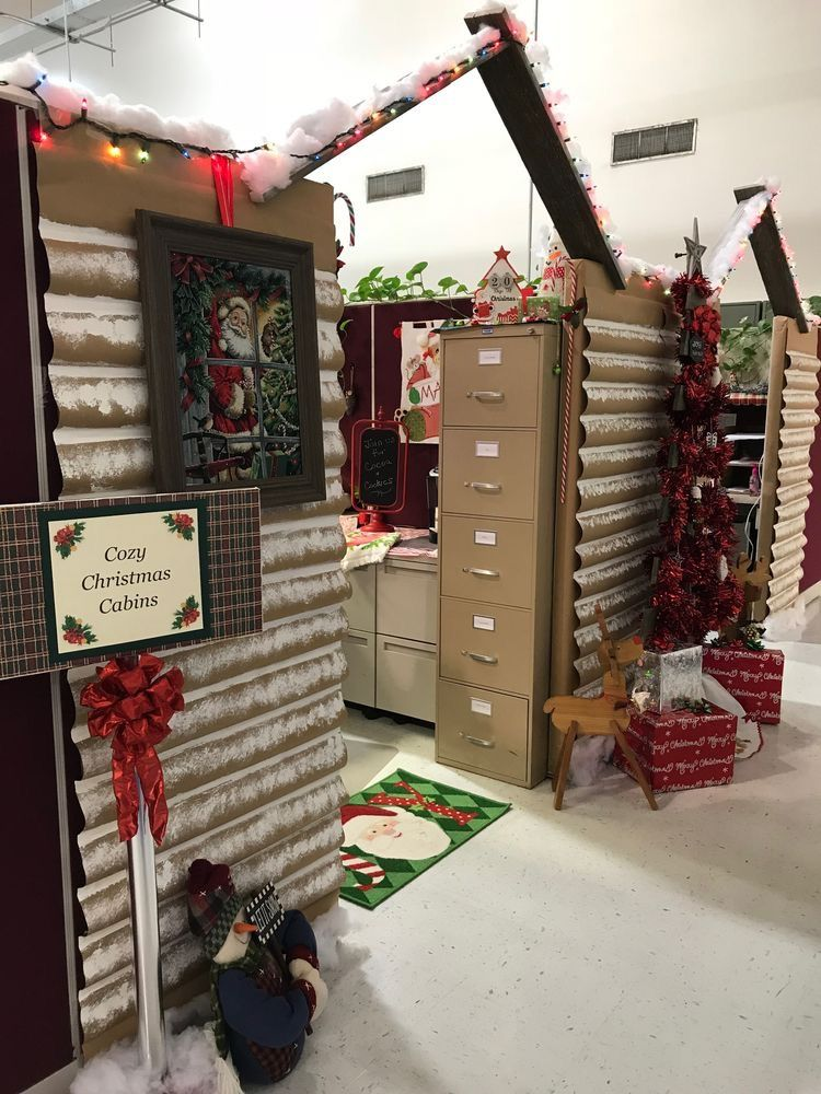 Pin By Karen Tucker Way On Buffalo Plaid Christmas Office Christmas Decorations Cubicles Christmas Cubicle Decorations Christmas Desk Decorations