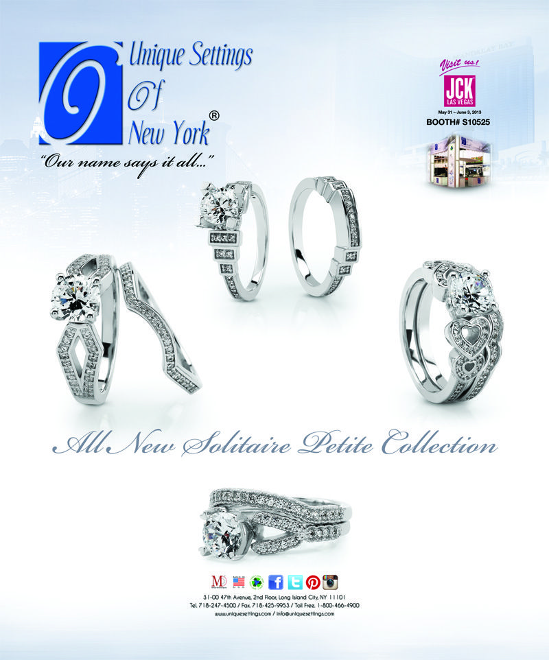 As Seen In Instore & JCK Magazine's MAY 2013 Issue...    All New Solitaire Petite Collection
