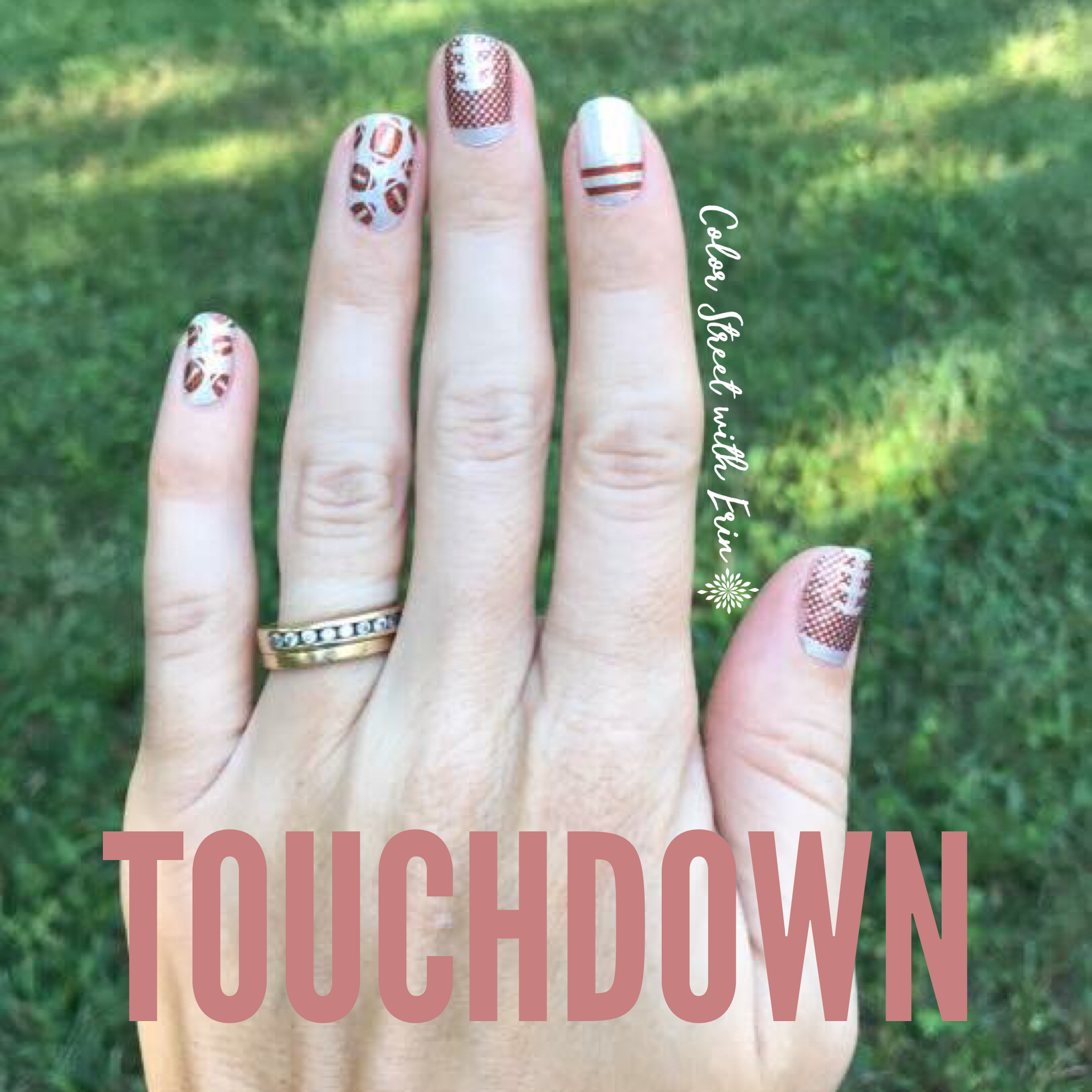 color street touchdown football nail polish strips help you root for your home team are - Football Pictures To Color