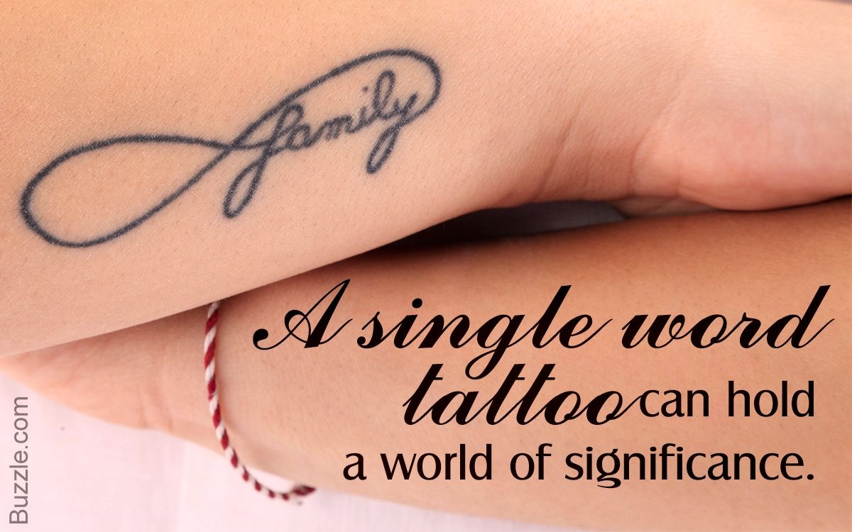 Heart Tattoos For Women 40 Powerful One Word Tattoo Ideas One Word