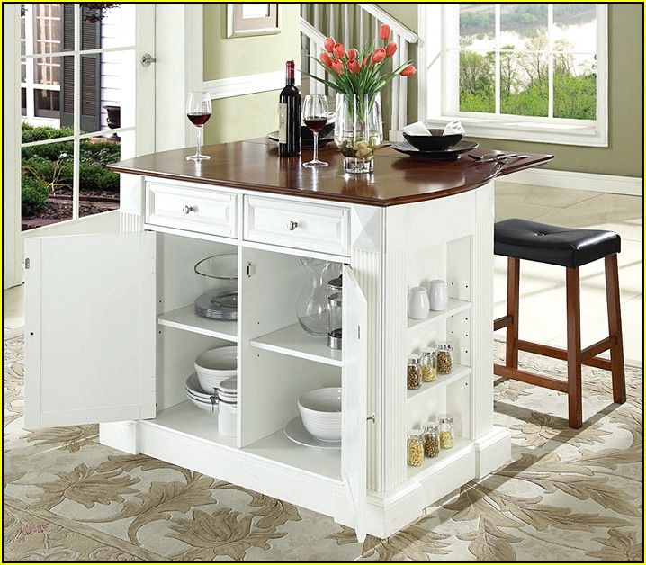 Movable Kitchen Island With Breakfast Bar