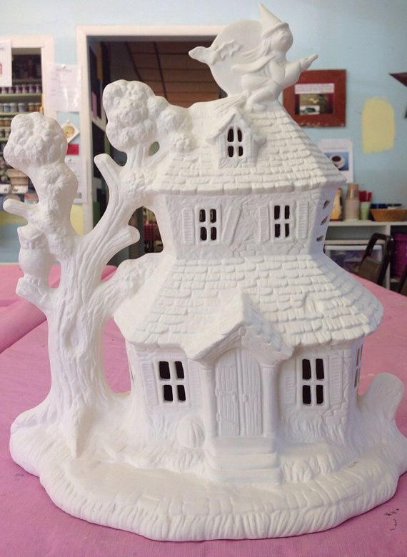 Pin By The Ceramic Barn On Pasta Y Ceramica In 2020 Ceramic Bisque Clay Fairy House Ceramic Houses
