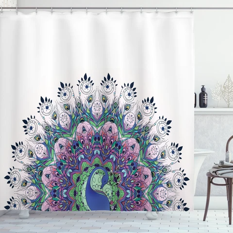 Pin On Peacock Shower Curtains