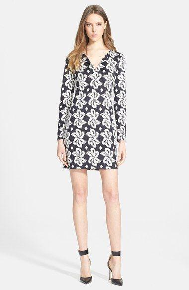 Diane von Furstenberg 'Reina' Silk Shift Dress available at #Nordstrom