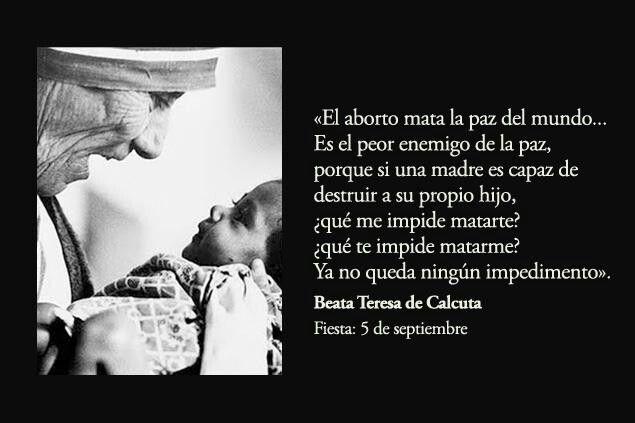 Cada 5 de septiembre, recordamos a esta mujer santa que dejó al mundo un testimonio del amor de Dios. Ayúdanos a difundir su vida entre las nuevas generaciones: http://www.aciprensa.com/teresadecalcuta/
