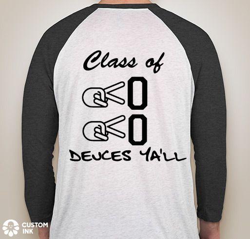 deuces ya ll class of senior class shirts high school