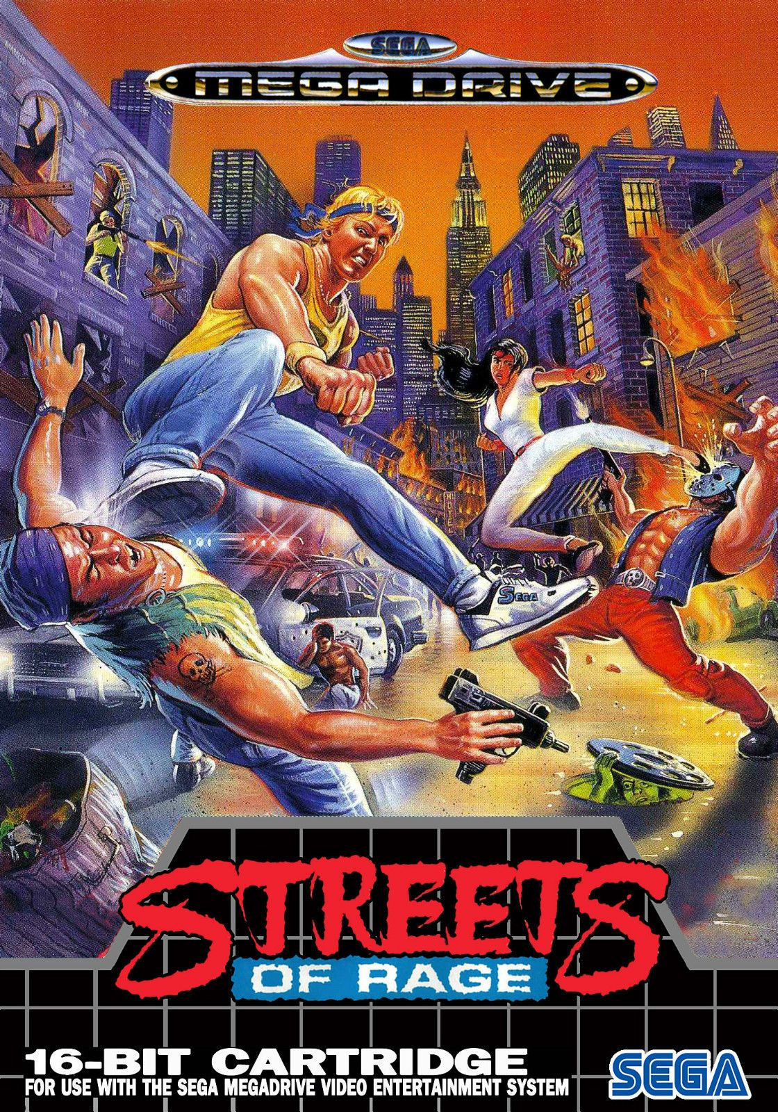 Framed Print A4 Sega Mega Drive Game Poster Streets of